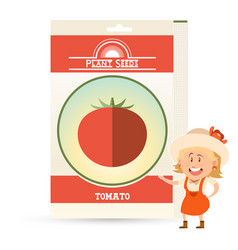 Pack tomato seeds vector