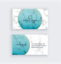 Professional marble business card design vector