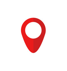 red map pin icon in flat style pointer symbol vector image