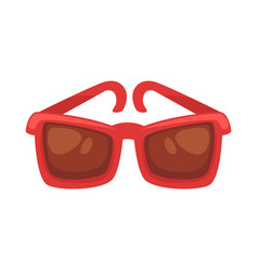Red sunglasses isolated on white vector