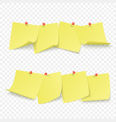 reminder board with empty yellow stickers vector image