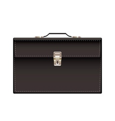 retro black leather briefcase vector image