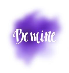 Romantic Typographic poster vector image