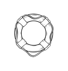 safety ring hand drawn vector image