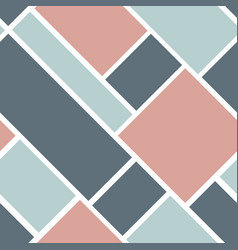 seamless geometric pattern with squares and vector image