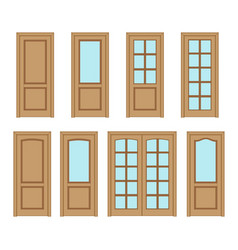 Set door interior vector