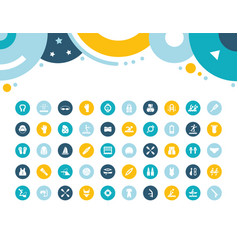 set simple icons water sport vector image