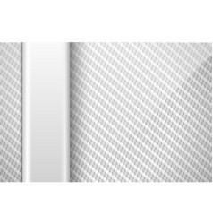 Silver white carbon fiber background vector