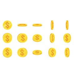Sprite sheet gold dollar coins rotation vector