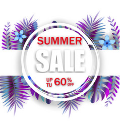 summer sale banner template advertising vector image