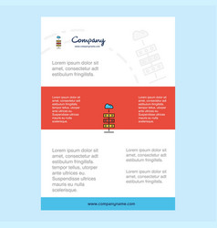 template layout for cloud computing comany vector image