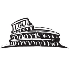 The Colosseum vector image