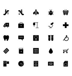 Universal mobile line icons 17 vector