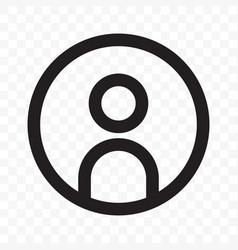 user member social net avatar profile icon vector image