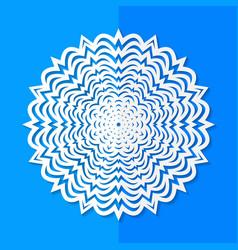 white paper snowflake vector image