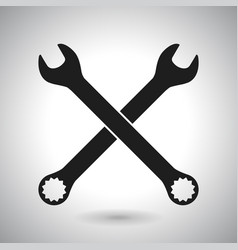 Wrench black outline icon vector