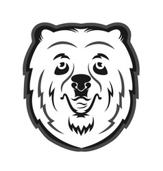 bear mascot for the sports team print on t-shirt vector image vector image