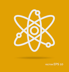 science outline icon white color vector image