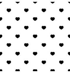 seamless pattern heart vector image vector image