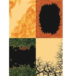 set of autumn backgrounds vector image vector image