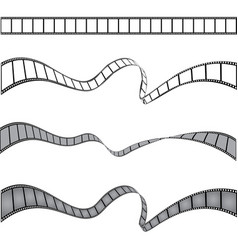 set of films stripes vector image vector image