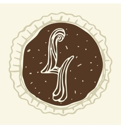 set of stylized figures of pastry cream vector image vector image