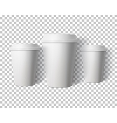 Coffee Cup Set Isolated on Transparent PS vector image