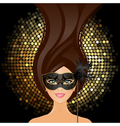 girl with mask vector image vector image