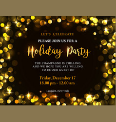 holiday party invitation vector image vector image