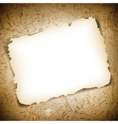 Burned Empty Paper vector image