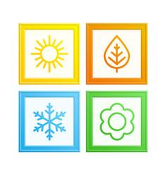 Frame of seasons vector