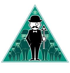 Hipster Secret Society vector image