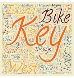 Key West Bike Tour Island Adventure text vector image vector image