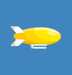 modern airship balloon aerostat transport vector image
