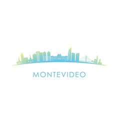 Montevideo skyline silhouette design colorful vector