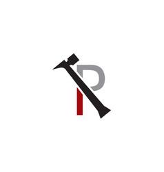 p letter repair logo vector image vector image