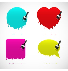 Set of banners with paintbrush vector image