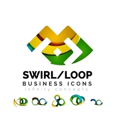 Set of infinity concepts loop logo designs vector image