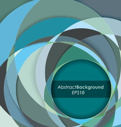 Teal Fractal Abstract Background vector image vector image