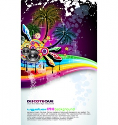 tropical disco dance background vector image vector image