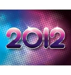 2012 halftone background vector