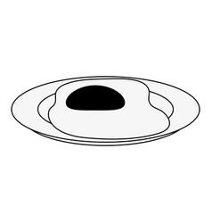 delicious sunny egg vector image