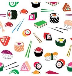 Food sea set vector image vector image
