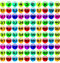 lottery balls 1100 vector image