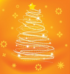 stylized xmas tree vector image vector image