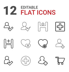 12 add icons vector