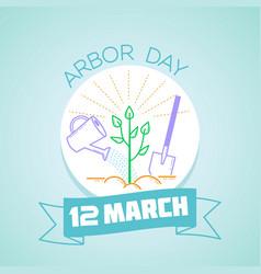 12 march arbor day vector