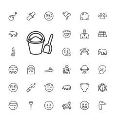 33 cartoon icons vector
