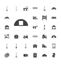 33 farming icons vector image
