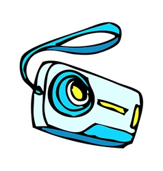 A digital camera vector